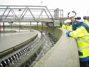 Clear final effluent at Bran Sands